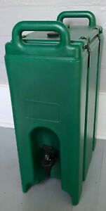 CAMBRO 500LCD 519~5 Gallon Hot/Cold Insulated Beverage Dispenser~Green~Unused