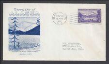 US First Day Cover FDC - #800 - 3¢ Alaska - NOV 13 1937 - Grimsland