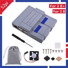 SNES Case Kit+Cooling Fan Heatsink For Raspberry Pi 3 B Plus / 3 B / 2 B/ SNESPI