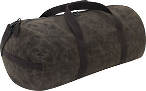 """Waxed Canvas Shoulder Duffle Bag Water Resistant Large Carry Bag 24"""" x 12"""" x 12"""""""