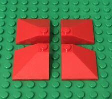 LEGO X4 Red Slope Double Convex 25° 3x3 Kingdoms Castle Roof Corner Parts 3675