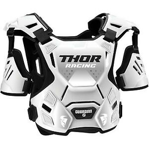 Youth Sizes Thor Guardian Roost White/Black Chest Protector Motocross Offroad