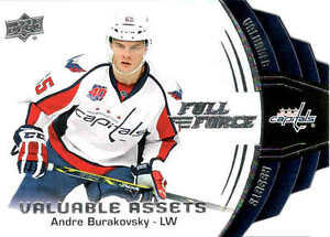 15/16 UD FULL FORCE HOCKEY VALUABLE ASSETS INSERT CARDS (V-XX) U-Pick From List