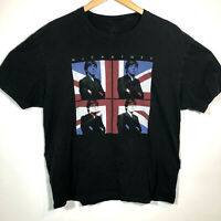 Paul McCartney 2013 Concert Tour Tshirt Sz XL 2-Sided British Flag Beatles