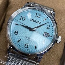 Seiko PRESAGE SRPE49J1 Automatic Cocktail Frozen Margarita Blue Japan Made 4r35