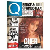 Q Magazine Cher The Cure Bruce Springsteen Def Leppard Annie Lennox 1992 May