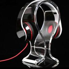 Acrylic Headphone Headset Earphone Stand Holder Hanger Headpho NEW Universal 1pc
