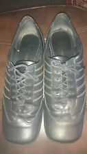 Nine West black leather lace up square toe shoes size 39/6