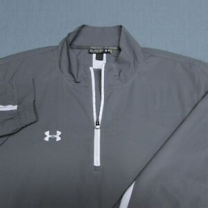 UNDER ARMOUR POLY  1/4 ZIP GOLF PULLOVER---3XL--LIGHTWEIGHT-TOP SPOTLESS QUALITY