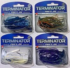 Terminator PRO's JIG 1/4, 1/2, & 3/4 oz. Choose White Blue June Bug Black Purple