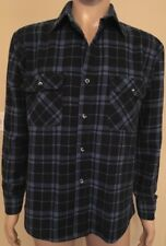 VTG Fieldmaster Perma-Prest Long Sleeve Plaid Tartan Hipster Shirt USA Made L