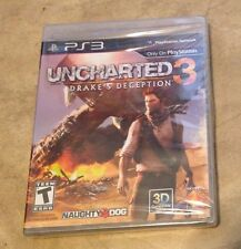 Uncharted 3 Drake's Deception NEW factory sealed Playstation 3 PS3 Black Label
