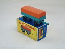 Matchbox Lesney # 2  Mercedes Trailer Near mint avec boîte type E (#MBB)