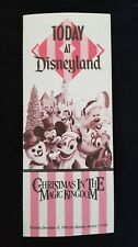 Disney Ephemera Today at Disneyland Christmas in The Magic Kingdom Dec 31, 1988