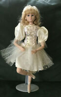 """House of Lloyd Ballerina Porcelain Doll 16"""" 1992 with stand"""