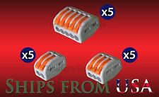 15 Pk Assrtd wago Style Lever Nuts Splicing Connector Terminal Block Cage Clamp