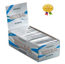 1250 x Papier à Rouler Rizla Cigarette de + Micron 25 Paquets de Feuilles