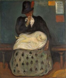 Edvard Munch Inheritance Giclee Canvas Print Paintings Poster Reproduction Copy