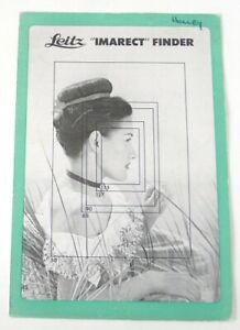 Leitz Imarect Finder Brochure - Original (1950)