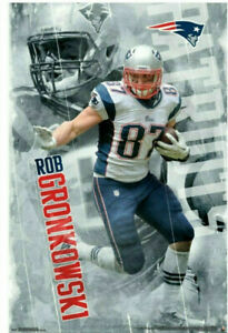 Rob Gronkowski GRONK ACTION New England Patriots NFL Action Wall POSTER Trends 1