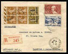 Lot N°8608 FRANCE - N°277B x 4 , 279A, 330 et 334 Obl sur pli pour VALENTON - TB