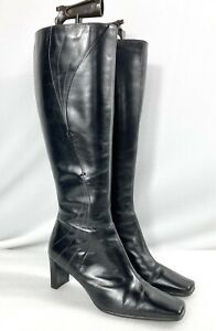 CLARKS Womens Ladies Black Soft Leather Knee High Boots - UK Size 5 - EU 38