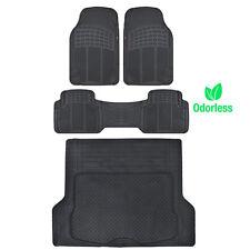 Weather-Free Odorless Semi Custom Fit Floor Mats Car Truck w/ Cargo Liner Black