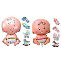 5Pcs/set Baby Shower Toys Boy Girl Foil Balloon Christening Birthday Party Decor