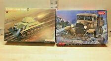TOKO 122 GAZ-AA Polutorka and Techmod WWII Soviet T-70M Light Tank Lot 1/35