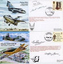 More details for gb 1979-2002 selection of 13 x multi signed raf covers, look!