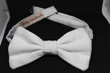 Papillon 100 % fatto a mano in raso bianco - Bow Tie - Valby Handmade