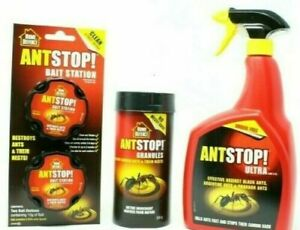 Home Defence Ant Stop Bait Station, Ant Spray or Ant Granules Sold Individually