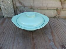 "Woods Ware Beryl. 1 x vegetable dish and lid. approx 9. 5"" diameter."