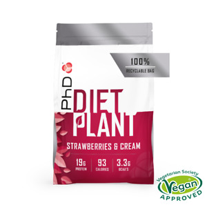 PhD Diet Plant, Vegan approved Protein Powder (Choose Flavour/Size)