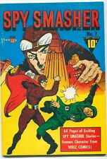 SPY SMASHER #1 1941 / MODERN B&W REPRINT OF A GOLDEN AGE COMIC