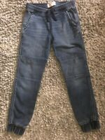 Abercrombie Kids Boys Joggers Blue Denim Jean Pants Youth Size 11/12