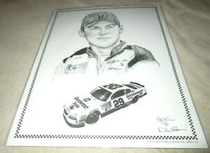 Nascar Driver #29 Kevin Harvick Goodwrench Black/White Drawing