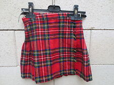 JUPE écossaise KILT VINTAGE SCOTT laine wool 70's made in Scotland 5 / 6 ans