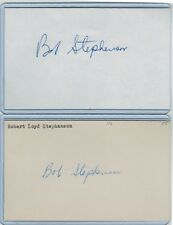 (2) Bob Stephenson Index Card Signed 1955 St Louis Cardinals Psa/Dna Certified