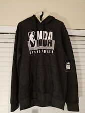 Official NBA Logo Basketball Hoodie Size Large Charcoal Grey 🏀
