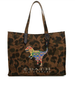 Coach Field Tote42 with Rainbow Signature Rexy NWT Sold out in stores!