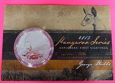 2013  AUSTRALIA KANGAROO   $1 ONE DOLLAR SILVER   1oz  COIN WITH MINT CARD
