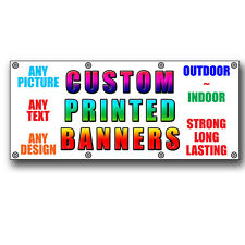 2 ft x 3 ft Vinyl OUTDOOR BANNER sign FREE DESIGN ANY IMAGE ANY TEXT