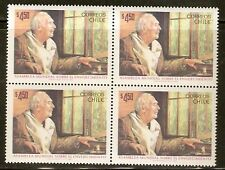 CHILE 1982 STAMP # 1035 MNH BLOCK OF FOUR WORLD ASSEMBLE ON AGEING