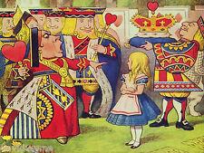 Queen of Hearts Alice in Wonderland 9 x 12 inch Needlepoint Canvas