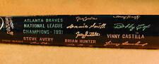 1991 Atlanta Braves World Series Black Bat NM-MT