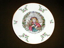 Royal Doulton Victorian Christmas Girl Plate 1978 (loc-cl-hl)