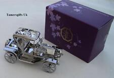 Gun Metal Plated & Swarovski Crystal Classic Car Bnib