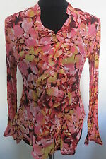 Petite Polyester Floral Long Sleeve Tops & Blouses for Women