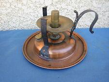 ANCIEN RECHAUD A MANCHE  CUIVRE ALCOOL PETROLE FER FORGE CUISINE CHAUFFE PLAT